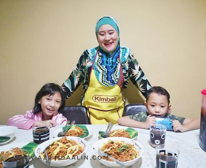 RESIPI MUDAH MASAK PASTA GORENG KIMBALL ALA MEE GORENG MAMAK ! KOMPEN GAYA MALAYSIA !