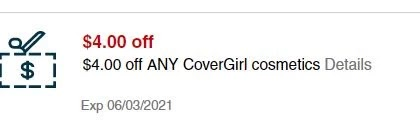 $4.00 any Covergirl makeup purchase CVS crt store Coupon (Select CVS Couponers)