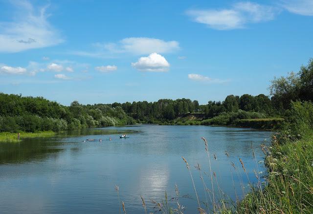 Река Иня (возле о.п. Паровозный)