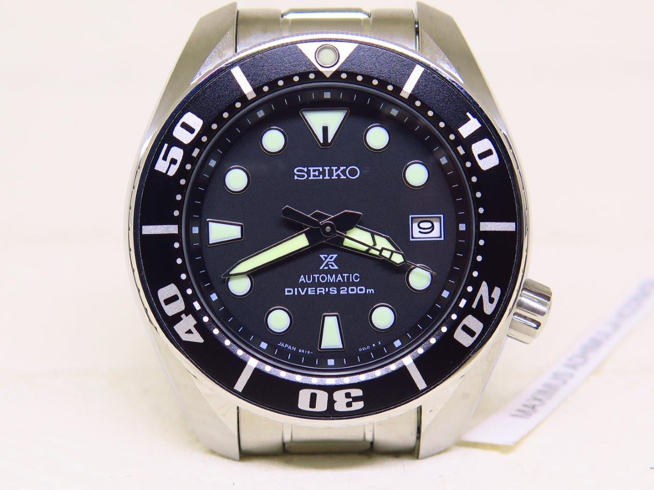 SEIKO DIVER SUMO BLACK DIAL - SEIKO SBDC031 - AUTOMATIC 6R15 - MINT CONDITION