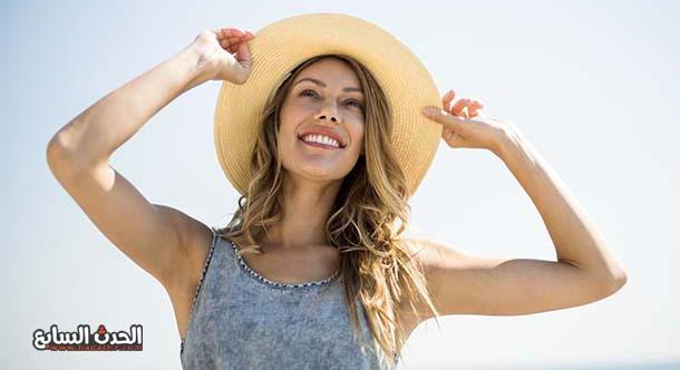 اهمية ارتداء قبعة اثناء الخروج للشمس
