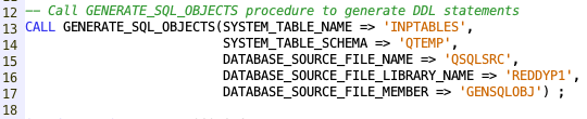 Generate SQL Objects - IBM i