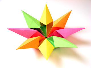 Origami modular Stella diamante 2 - Diamond Star 2 by Francesco Guarnieri