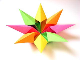 Origami modular Stella diamante 2 - Diamond Star 2 by Francesco Guarnieri