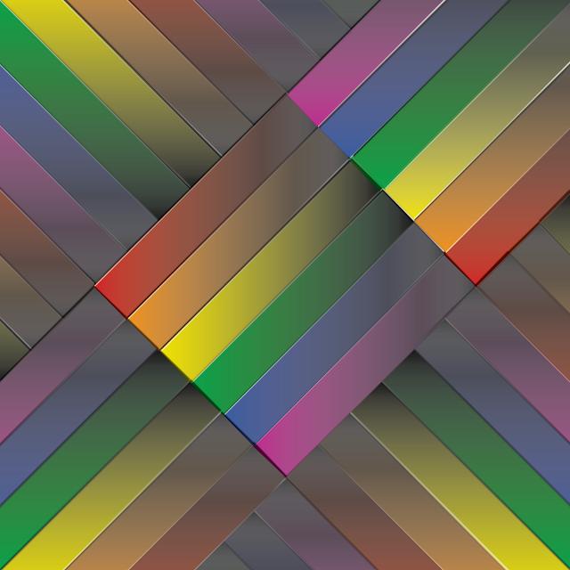 Gay Pride - Rainbow Gradated Cross Weave of Pride