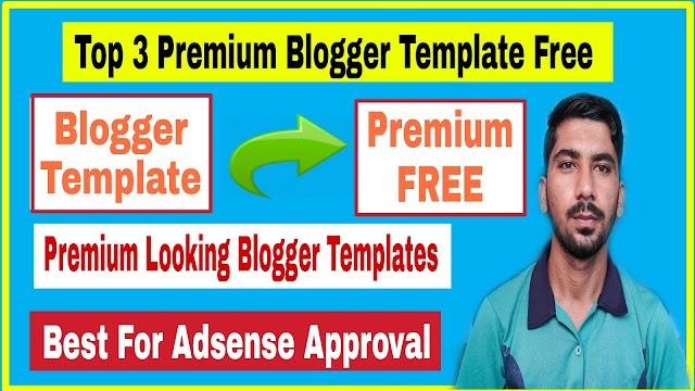 Top 3 Premium Blogger Template Free