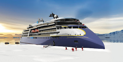 Artists Rendering of Linblad Expeditions' National Geographic Resolution Keel Laying Ceremony