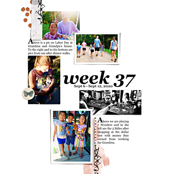 Week 37: Digital Scrapbook Page