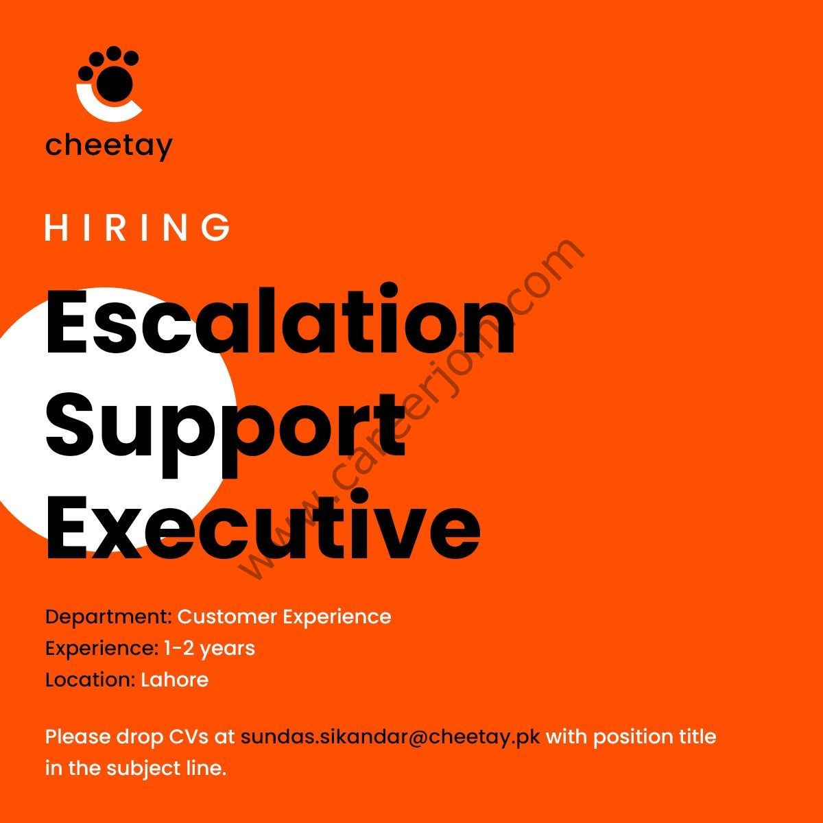 Cheetay Logistics Pvt Ltd Jobs Escalation Support Executive