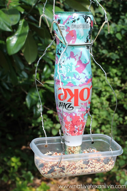 Easy DIY Bird Feeder using Diet Coke It's Mine bottles