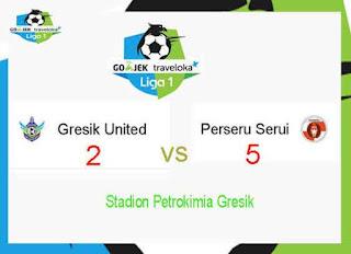 Perseru Serui vs Gresik United Skor Akhir 5-2