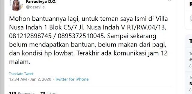Trending Topic Di Twitter, Warga Villa Nusa Indah Bekasi Butuh Pertolongan