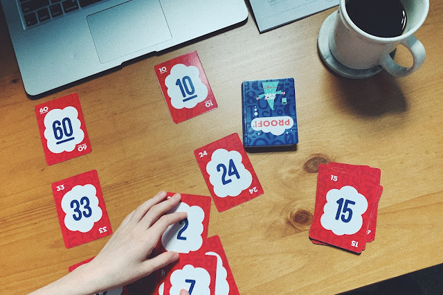 Proof! math card game