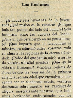 Fragmento del texto publicado en Gaceta Universal