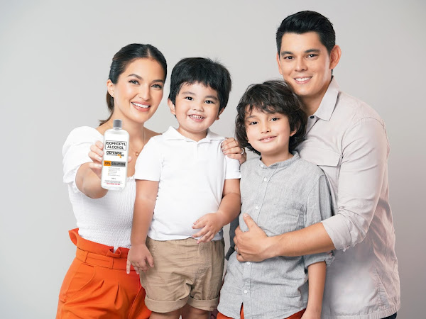 Defensil Isopropyl Alcohol welcomes Richard Gutierrez, Sarah Lahbati, and kids as brand ambassadors