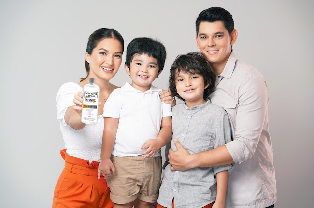 Defensil Isopropyl Alcohol welcomes Richard Gutierrez, Sarah Lahbati, and kids as brand ambassadors