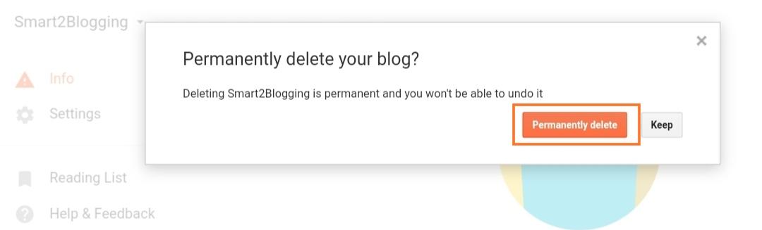 ब्लॉगर ब्लॉग डिलीट करें - HindiCraze