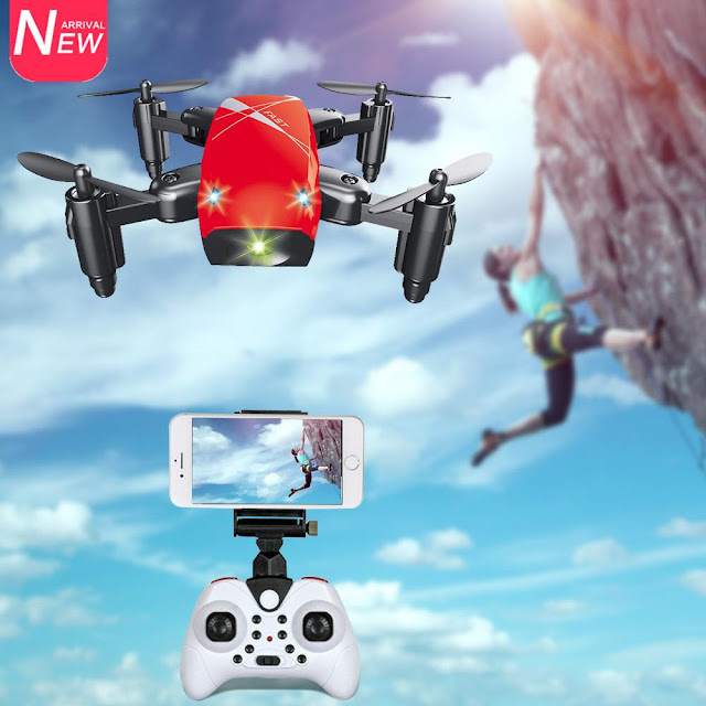 S9HW Mini Foldable WiFi RC Drone Quadcopter with HD Camera