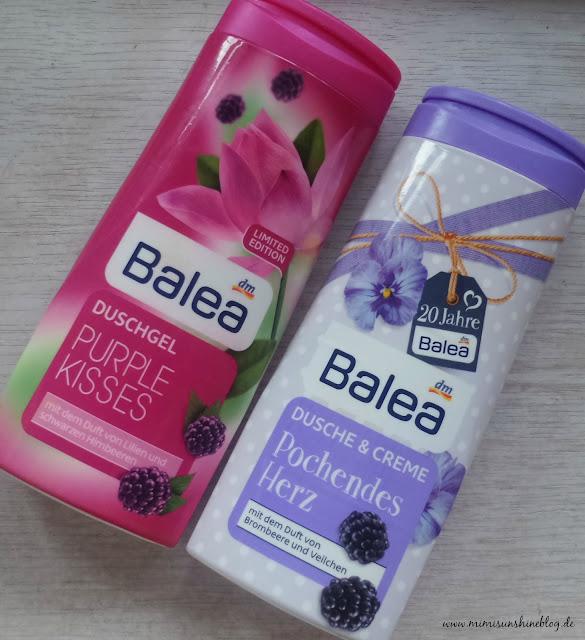 "Balea Duschgele ""Pochendes Herz"" & ""Purple Kisses"""