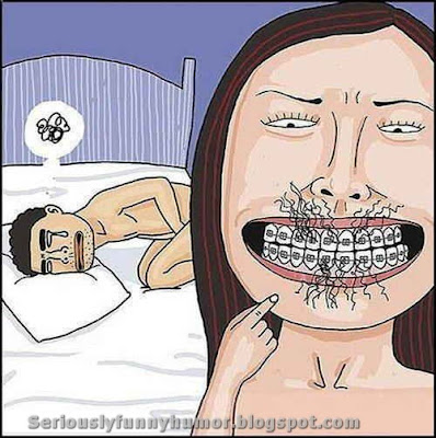 Pubic hair and braces don't mix hahaha