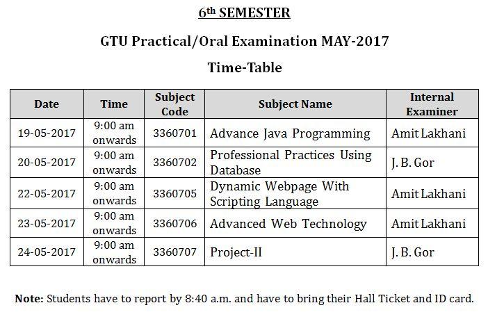 timetable of gtu 3rd sem Gtu-infocom provides information about academic calendar, notices, gtu results, syllabus,gtu exams,gtu exam question papers,gtu colleges 3rd sem, 5th sem.