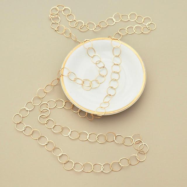 Gold circle chain necklace by Britta Ambauen