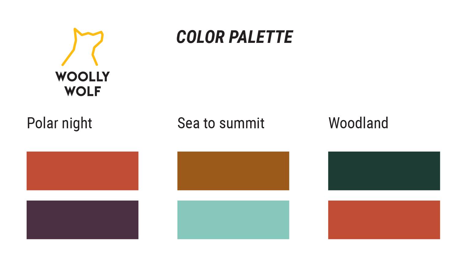 Woolly Wolfin malliston värikartta