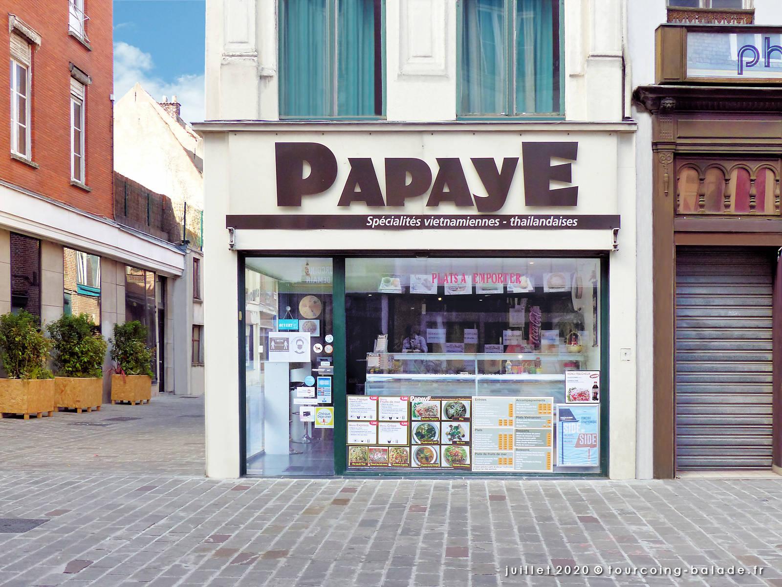 Façade du Restaurant Papaye, Tourcoing 2020