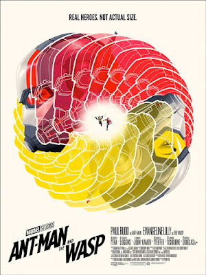 San Diego Comic-Con 2019 Exclusive Ant-Man and The Wasp Screen Print by Phantom City Creative x  Mondo
