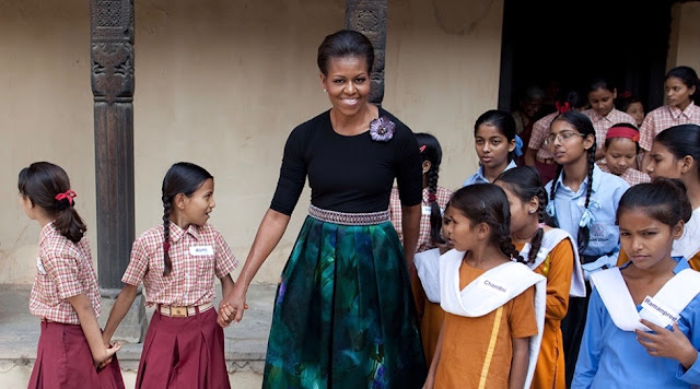 Michelle Obama with Let Girls Learn