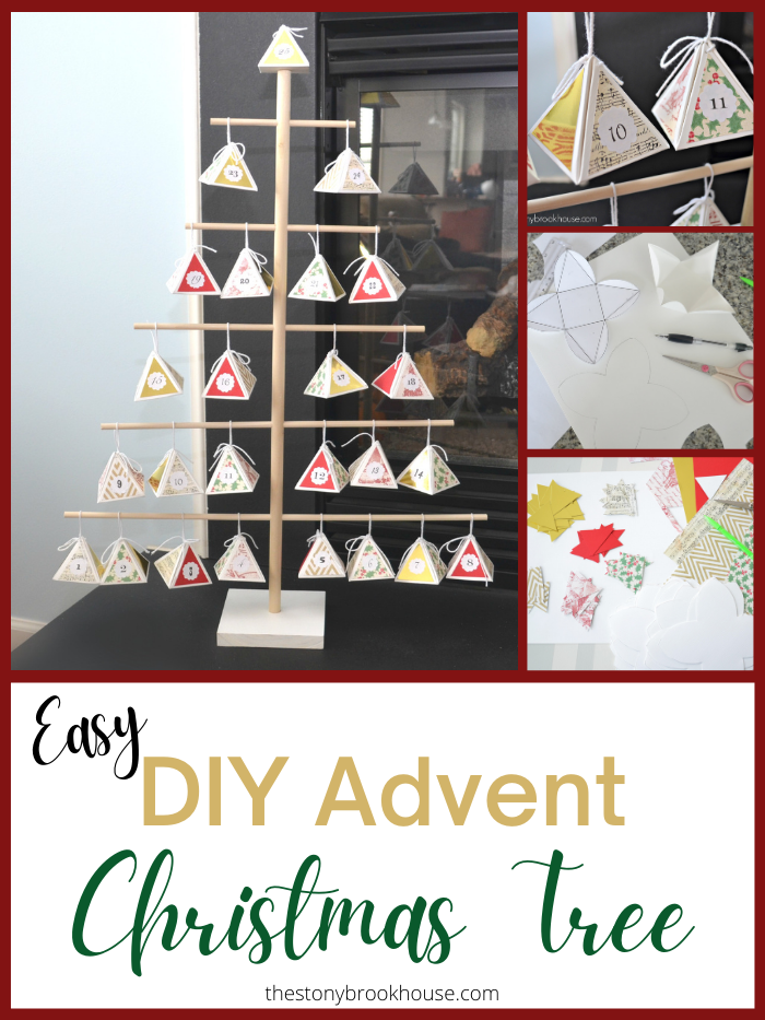 Easy DIY Advent Christmas Tree