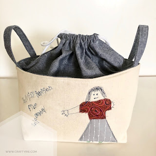 A fun, quirky, easy to sew Juniper Basket by CraftyRie.com