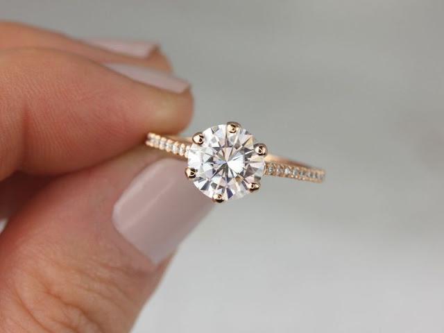 Non Diamond Engagement Rings Moissanite