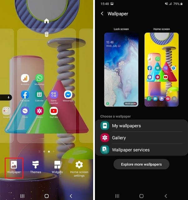 How to change the wallpaper on Android