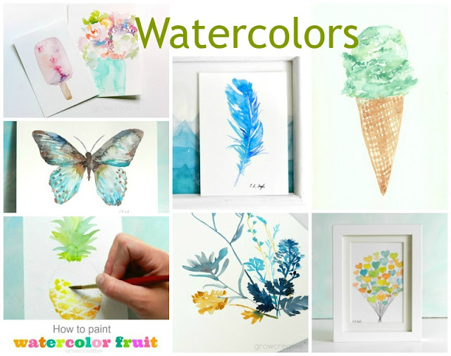 watercolor paintings and tuturials
