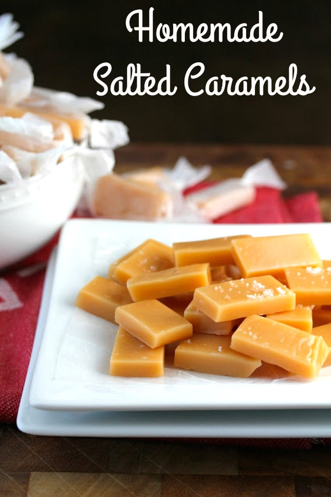 Easy Homemade salted caramels