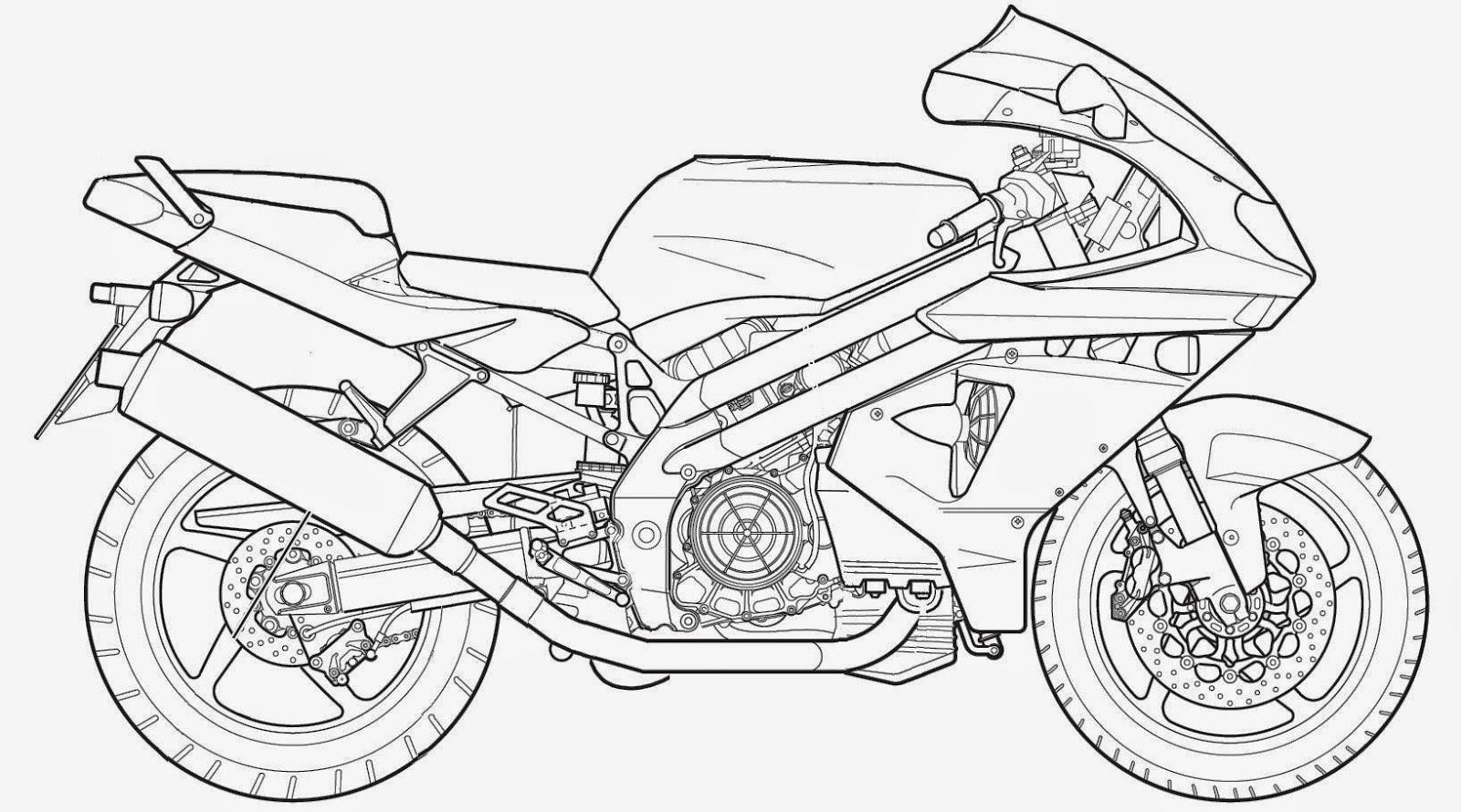 Desenhos De Motos Para Colorir E Imprimir