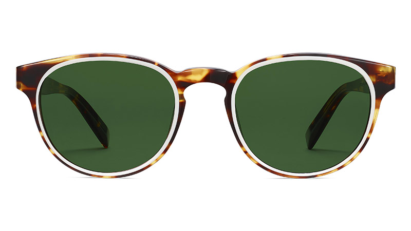 Warby Parker Percey Sunglasses in Root Beer with Ecru