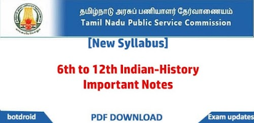 TNPSC 6th to 12th Indian History Important Notes by Akash Academy