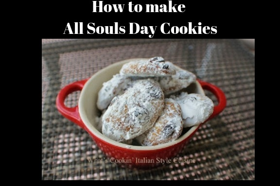 how to make all souls day cookies with spice and traditional Catholic chewy cookies
