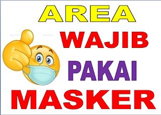 area wajib pakai masker