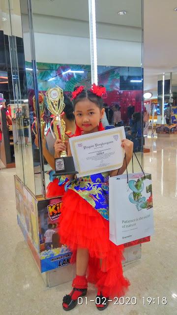 Rahel Raih Juara 2 Festival Imlek Yang di Gelar Sekolah Methodist 5