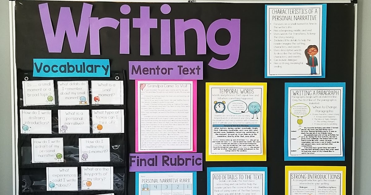 Personal Narrative Writing Grades 2 5 Thrifty In Third Grade