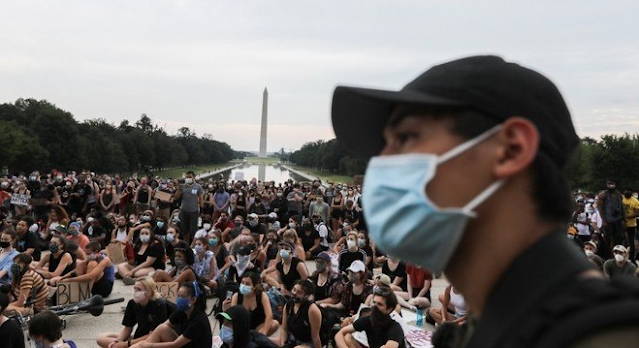 Manifestantes nos EUA