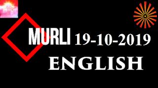 Brahma Kumaris Murli 19 October 2019 (ENGLISH)