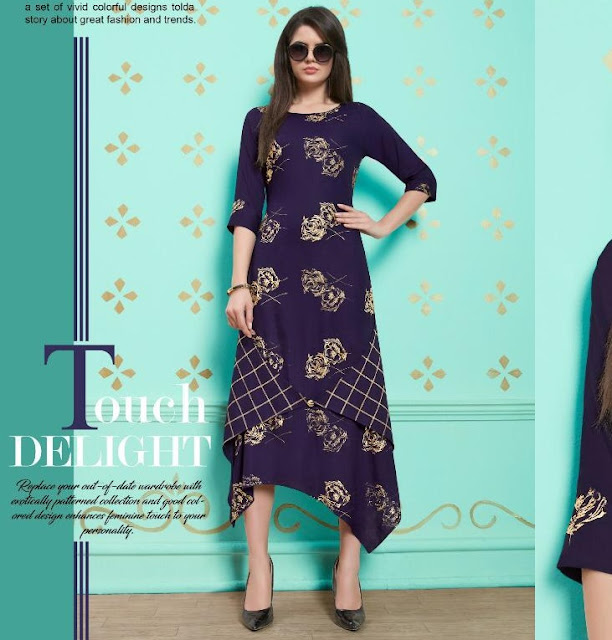 Nitisha NX Naysha Gold printed traditional kurtis Design