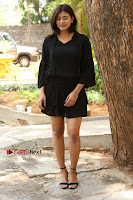 Actress Hebah Patel Stills in Black Mini Dress at Angel Movie Teaser Launch  0033.JPG