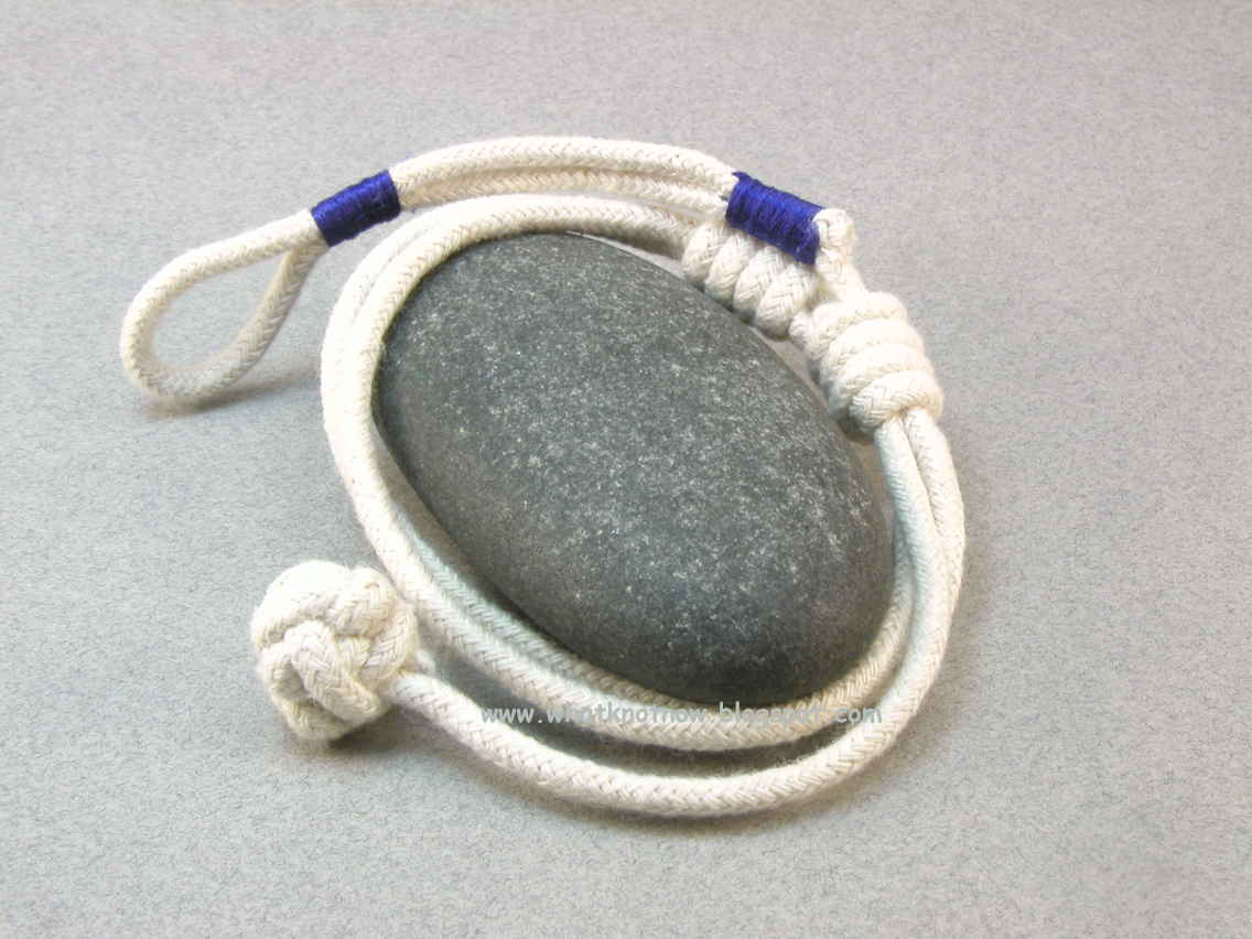 Nautical Knot Rope Bracelet With Blue Accents 2756