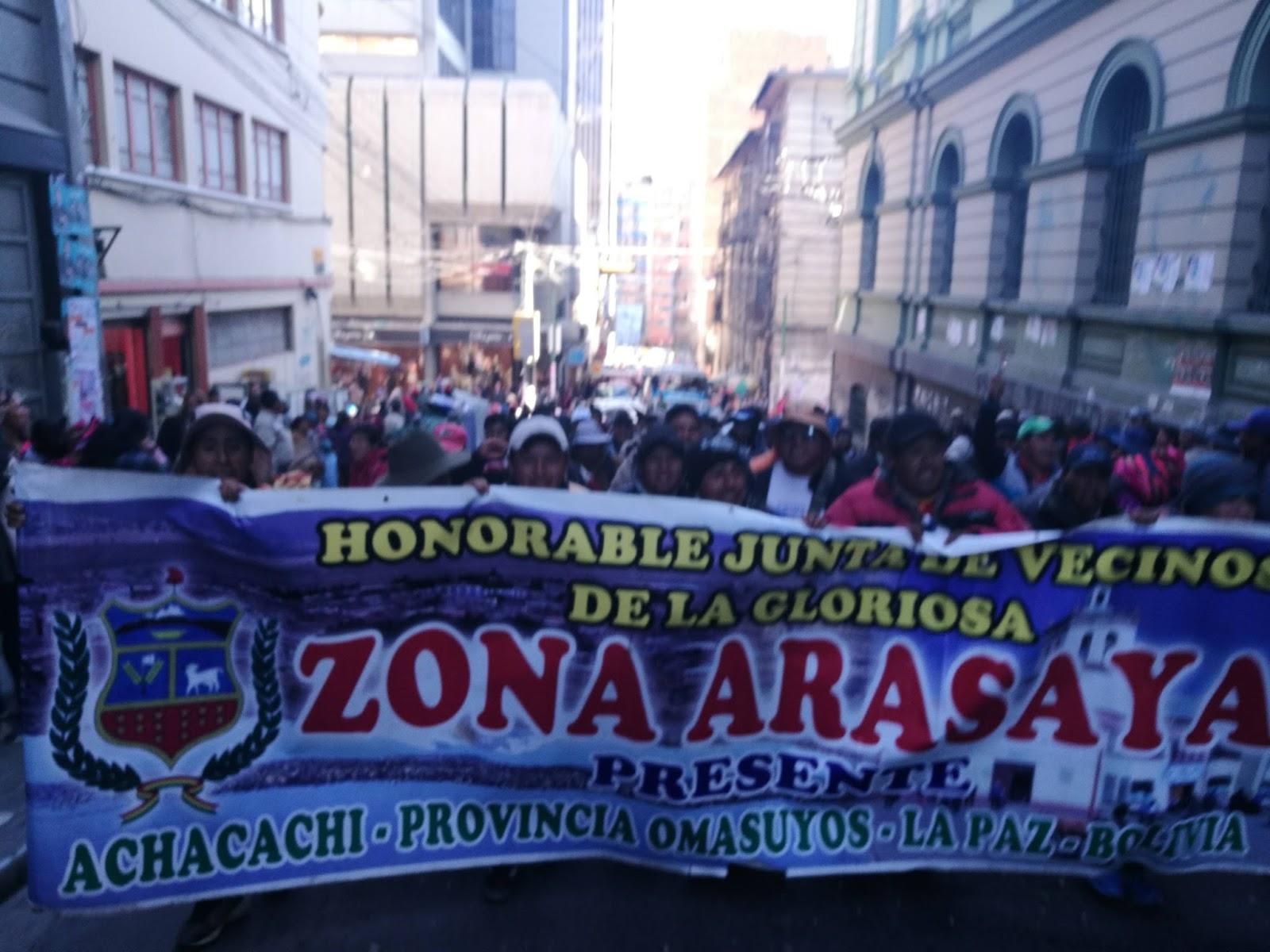 Comunarios de Achacachi estuvieron en La Paz desde el martes en aproximadamente 5 mil personas