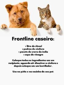 Lista de materiais Frontline Caseiro